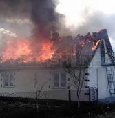 У будинку вогонь знищив дві кімнати