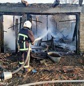 Господарська будівля зазнала ушкоджень від вогню (фото)