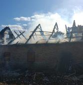 У селі згоріла господарська будівля