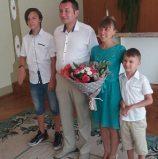 Сім'я святкує Агатове весілля