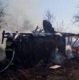В обідню пору вогнем знищені вщент дві будівлі (фото)