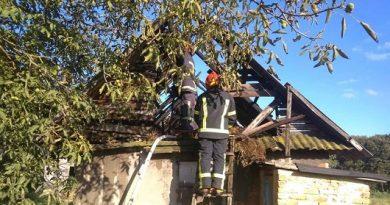 Вогонь пошкодив дах будівлі